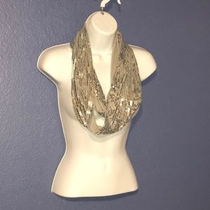 Sequin Infinity Scarf by Candies